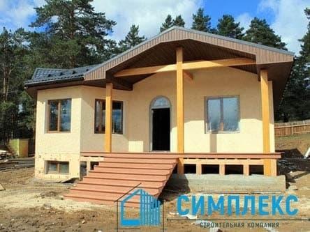 Cтроительство дома в пос. Глазуново г. Иркутск. - Фасад 2