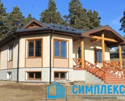 Cтроительство дома в пос. Глазуново г. Иркутск. - Фасад 1