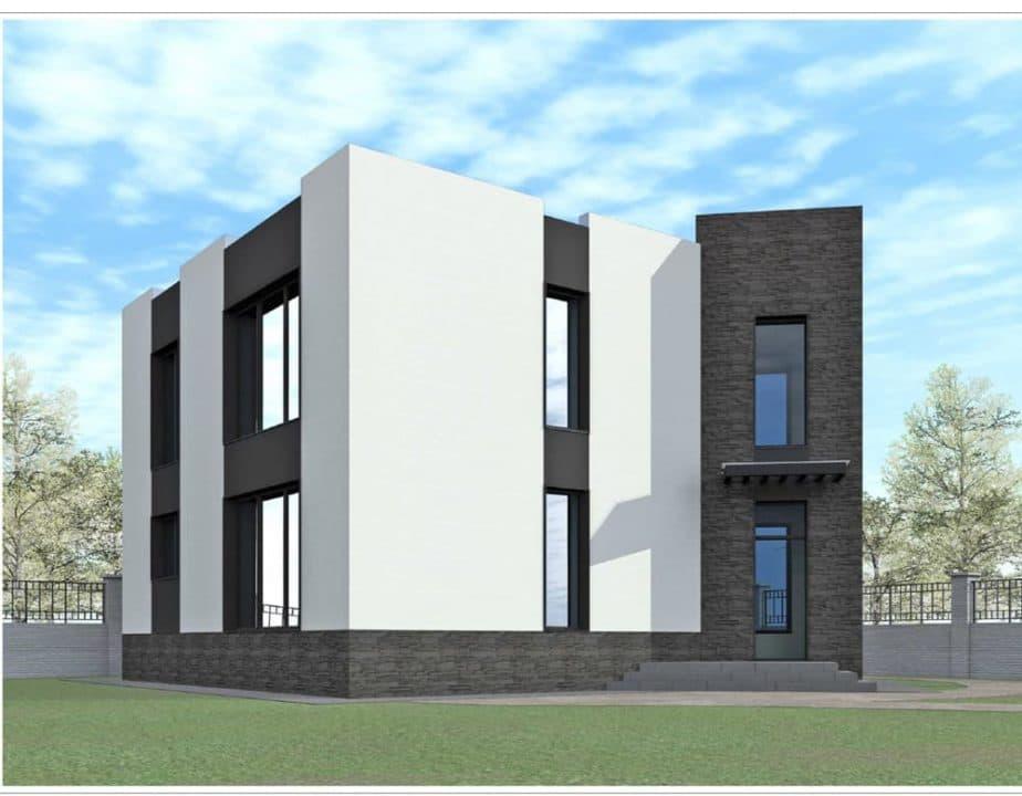 """Проект ультрасовременного дома """"Аданос"""" (150 м2) - Фасад 3"""