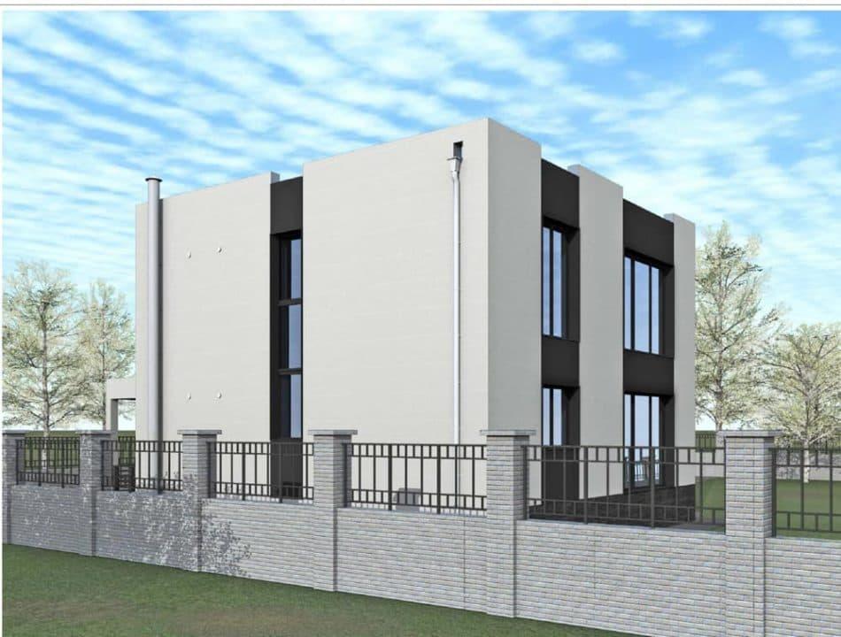 """Проект ультрасовременного дома """"Аданос"""" (150 м2) - Фасад 5"""