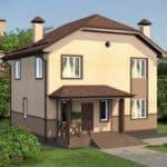 """Проект двухэтажного дома """"Иннос"""" (125 м2) - Фасад 4"""