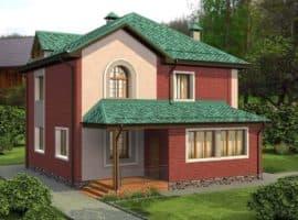 """Проект двухэтажного дома """"Туколор"""" (161 кв. м.) - Фасад 1"""