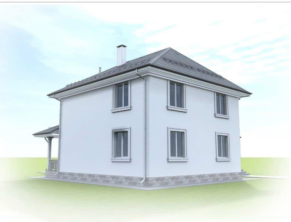 "Проект двухэтажного дома ""Цицерон"" с гаражом (240 м2) - Фасад 2"