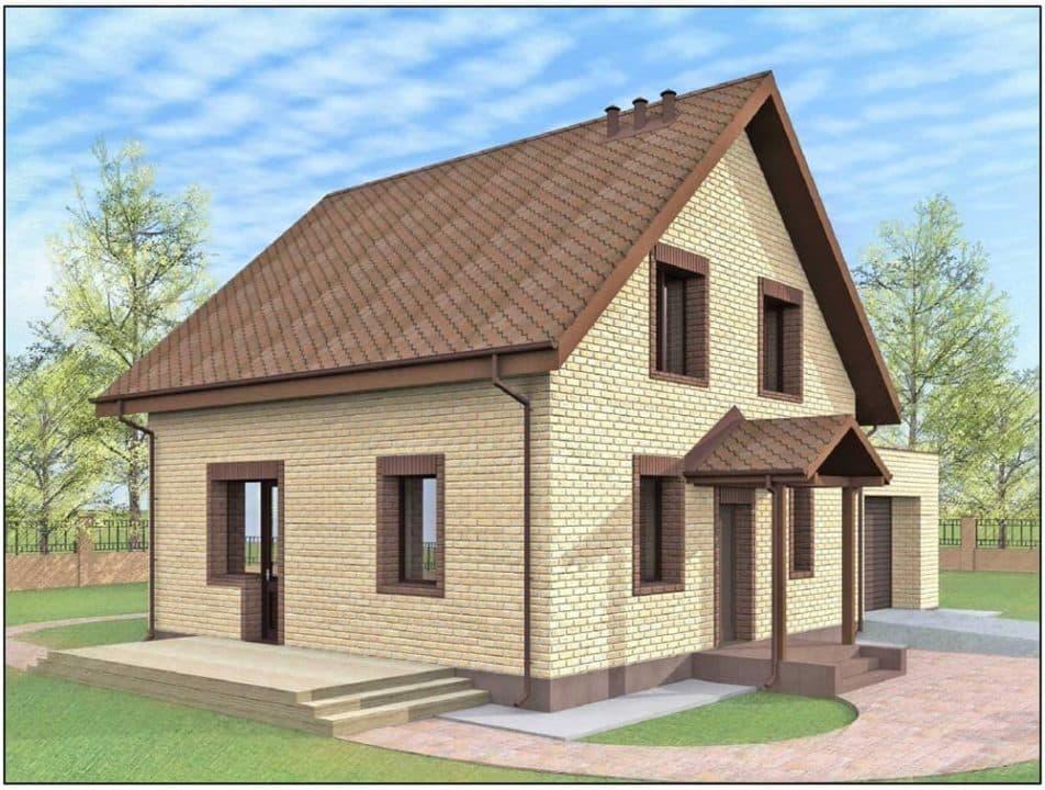 Грамотная планировка дома с мансардой | Home-ideas.ru | 720x952