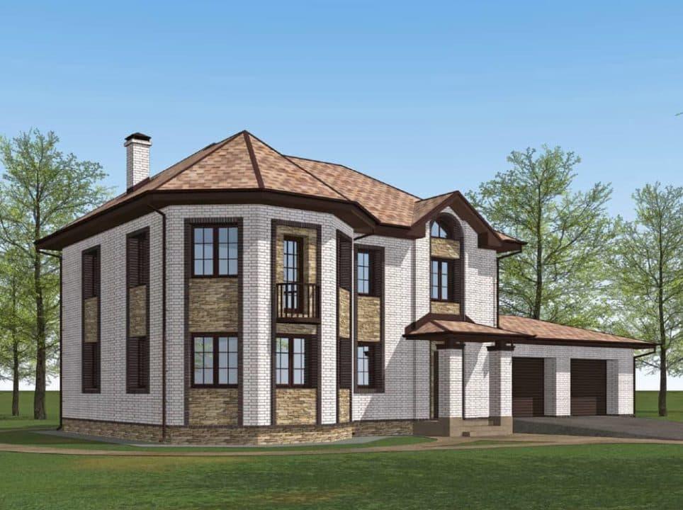 """Проект двухэтажного дома с эркером """"Герольд"""" (230 кв. м.) - Фасад 6"""