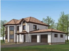 """Проект двухэтажного дома с эркером """"Герольд"""" (230 кв. м.) - Фасад 1"""
