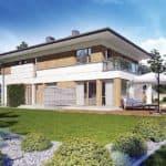 """Проект двухэтажного дома """"Лигенд"""" с 2 входами 18 на 11 (170 кв.м.) - Фасад 1"""