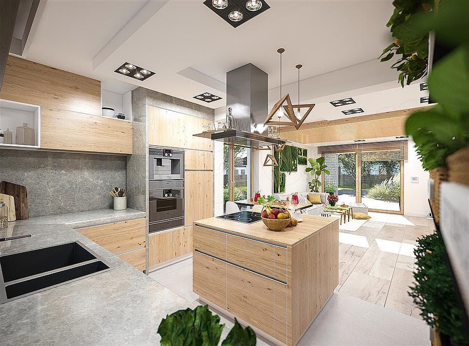 "Проект одноэтажного дома ""Дарио"" Внутри 1"