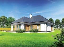 """Проект небольшого одноэтажного дома """"Мифрин"""" 15 на 14 (146 кв.м) - Фасад 3"""