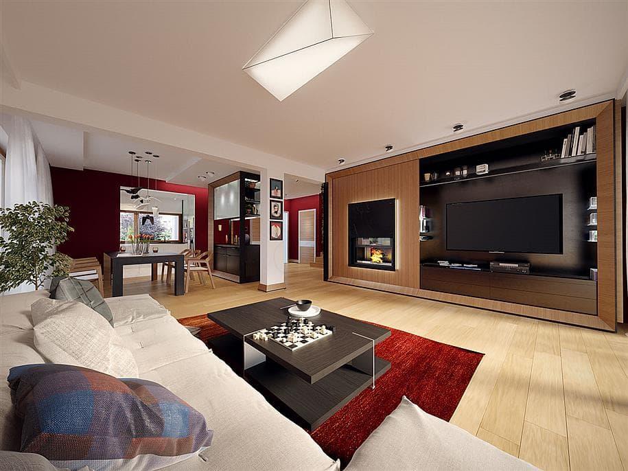 """Проект двухэтажного дома """"Доминус"""" с гаражом 16 на 13 (233 кв.м.) - Внутри 1"""