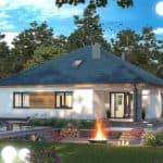 "Проект одноэтажного дома ""Дарио"" с крыльцом (120 м2) - Фасад 2"