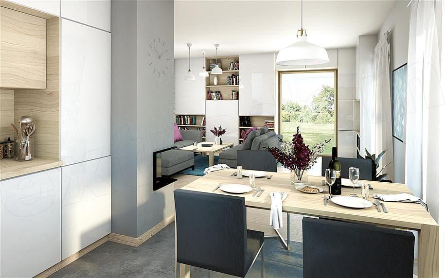 """Проект дома мансардного типа """"Фрао"""" в современном стиле с гаражом (115 кв.м.) - Внутри 2"""
