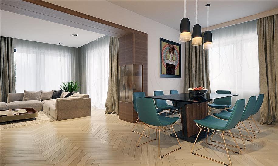 """Проект двухэтажного дома """"Тиктон"""" с балконом, террасой и панорамными окнами (156 кв.м.) - Внутри 3"""