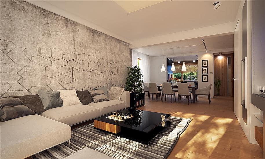 """Проект двухэтажного дома """"Манхет"""" с гаражом на 2 авто 13 на 13 (193 кв. м.) - Внутри 3"""