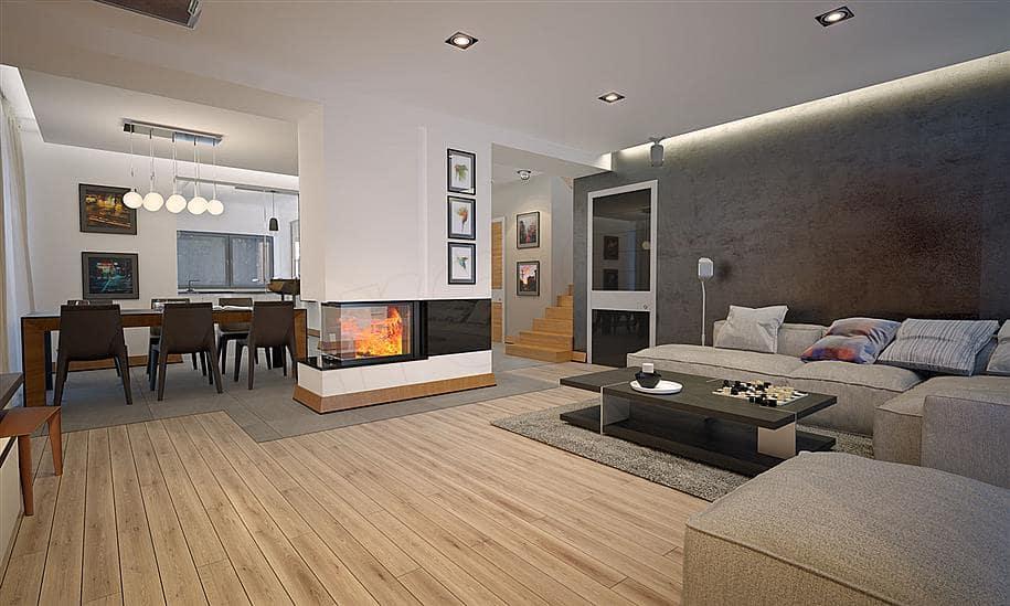 """Проект двухэтажного дома """"Оригин"""" в европейском стиле с гаражом на 2 авто (163 кв.м.) - Внутри 2"""