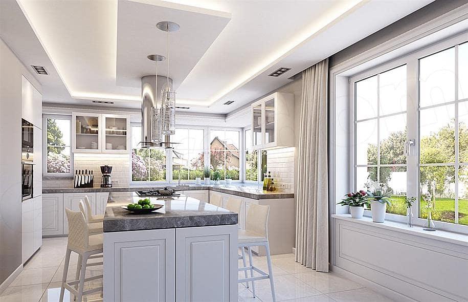 """Проект одноэтажного дома """"Абраам"""" в классическом стиле (160 м2) - Внутри 1"""
