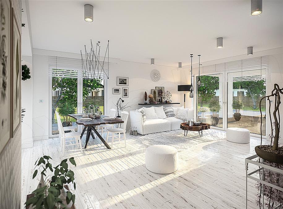 "Проект одноэтажного дома с гаражом ""Зигмунт"" 15 на 17 (132 м2) - Внутри 2"