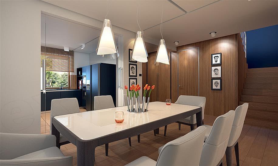 """Проект двухэтажного дома """"Манхет"""" с гаражом на 2 авто 13 на 13 (193 кв. м.) - Внутри 4"""