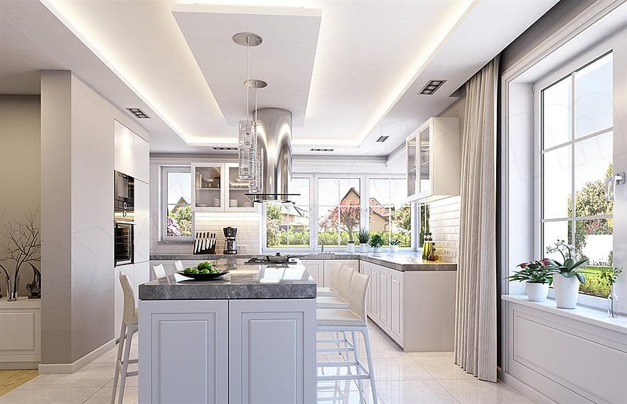 """Проект одноэтажного дома """"Абраам"""" в классическом стиле (160 м2) - Внутри 2"""