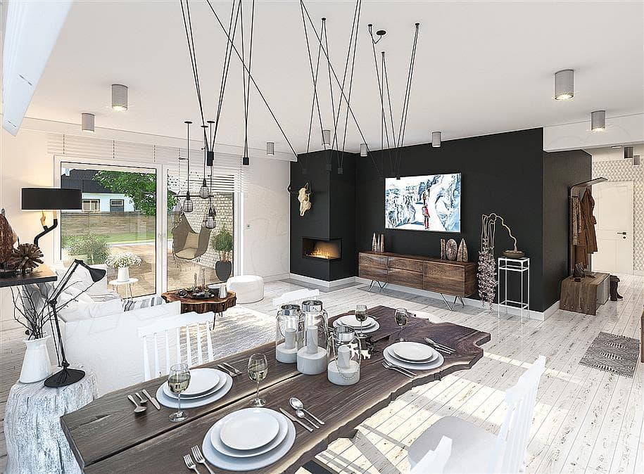 "Проект одноэтажного дома с гаражом ""Зигмунт"" 15 на 17 (132 м2) - Внутри 3"