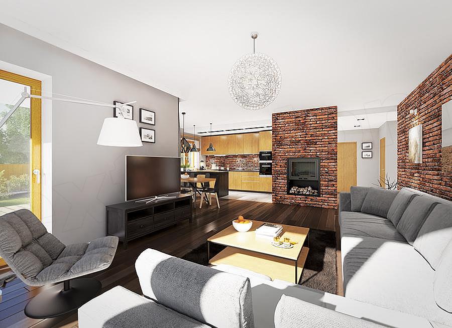 """Проект небольшого одноэтажного дома """"Мифрин"""" 15 на 14 (146 кв.м) - Внутри 1"""