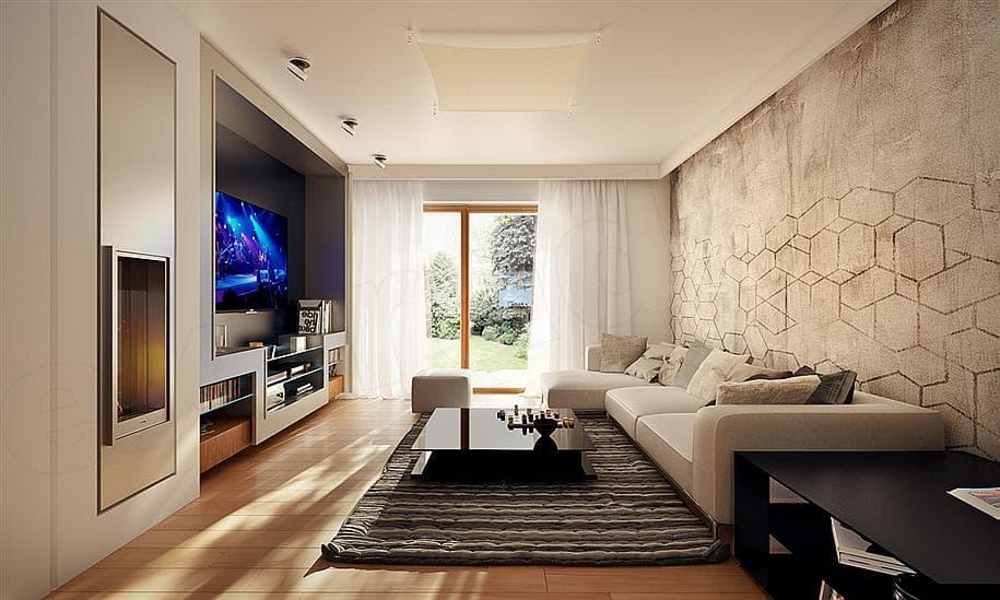 """Проект двухэтажного дома """"Манхет"""" с гаражом на 2 авто 13 на 13 (193 кв. м.) - Внутри 5"""