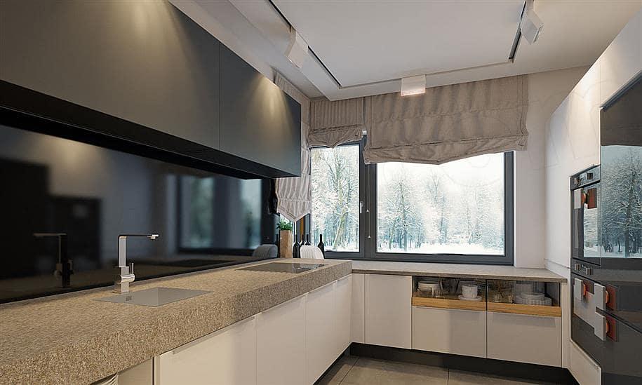 """Проект двухэтажного дома """"Тиктон"""" с балконом, террасой и панорамными окнами (156 кв.м.) - Внутри 1"""