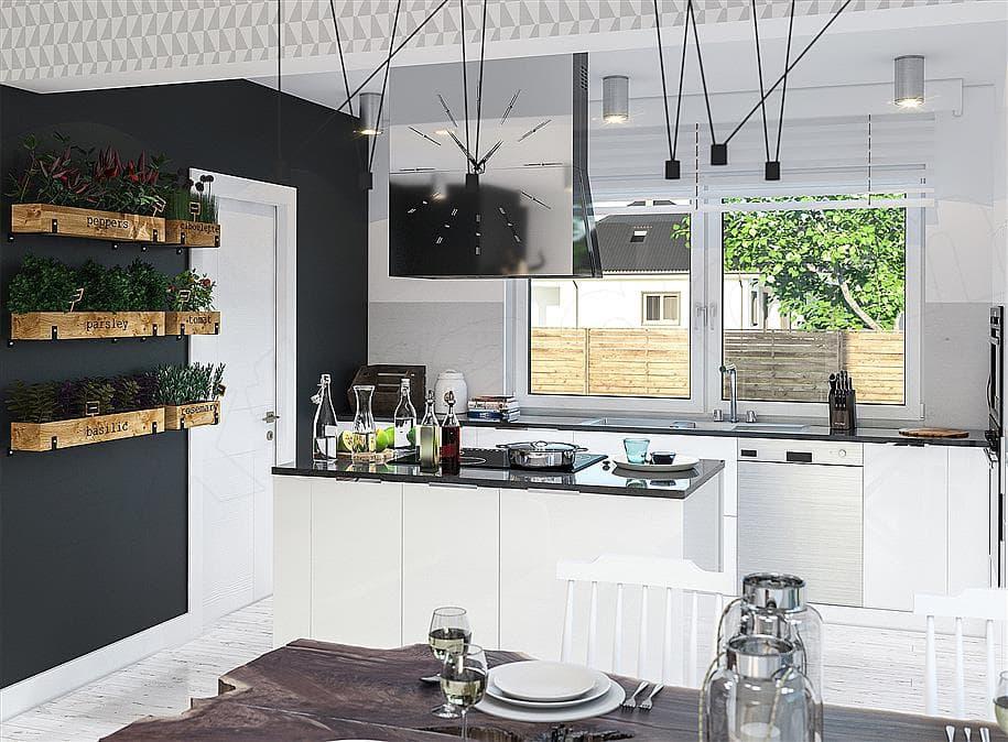 "Проект одноэтажного дома с гаражом ""Зигмунт"" 15 на 17 (132 м2) - Внутри 4"
