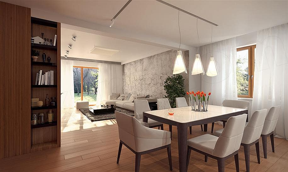 """Проект двухэтажного дома """"Манхет"""" с гаражом на 2 авто 13 на 13 (193 кв. м.) - Внутри 6"""