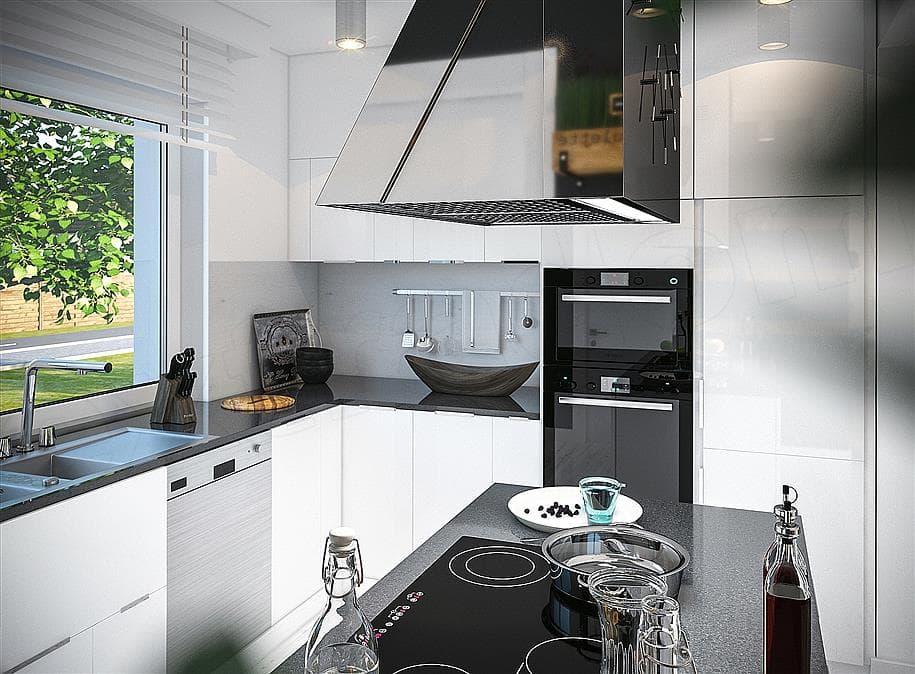 "Проект одноэтажного дома с гаражом ""Зигмунт"" 15 на 17 (132 м2) - Внутри 5"