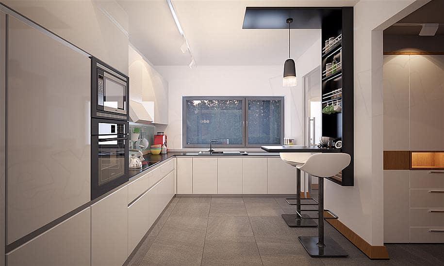"""Проект двухэтажного дома """"Оригин"""" в европейском стиле с гаражом на 2 авто (163 кв.м.) - Внутри 4"""