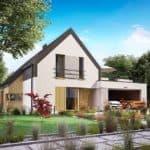 "Проект дома мансардного типа ""Никрон"" с 5 спальными комнатами (207 кв.м.) - Фасад 3"