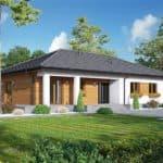 """Проект одноэтажного дома """"Лаймхак"""" с 3 спальнями (160 кв.м.) - Фасад 1"""