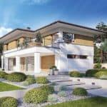 """Проект двухэтажного дома """"Лигенд"""" с 2 входами 18 на 11 (170 кв.м.) - Фасад 3"""