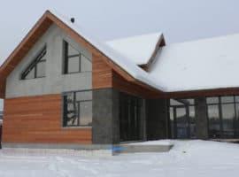 Двухэтажный индивидуальный жилой дом в СНТ Ручеек - Фасад 1