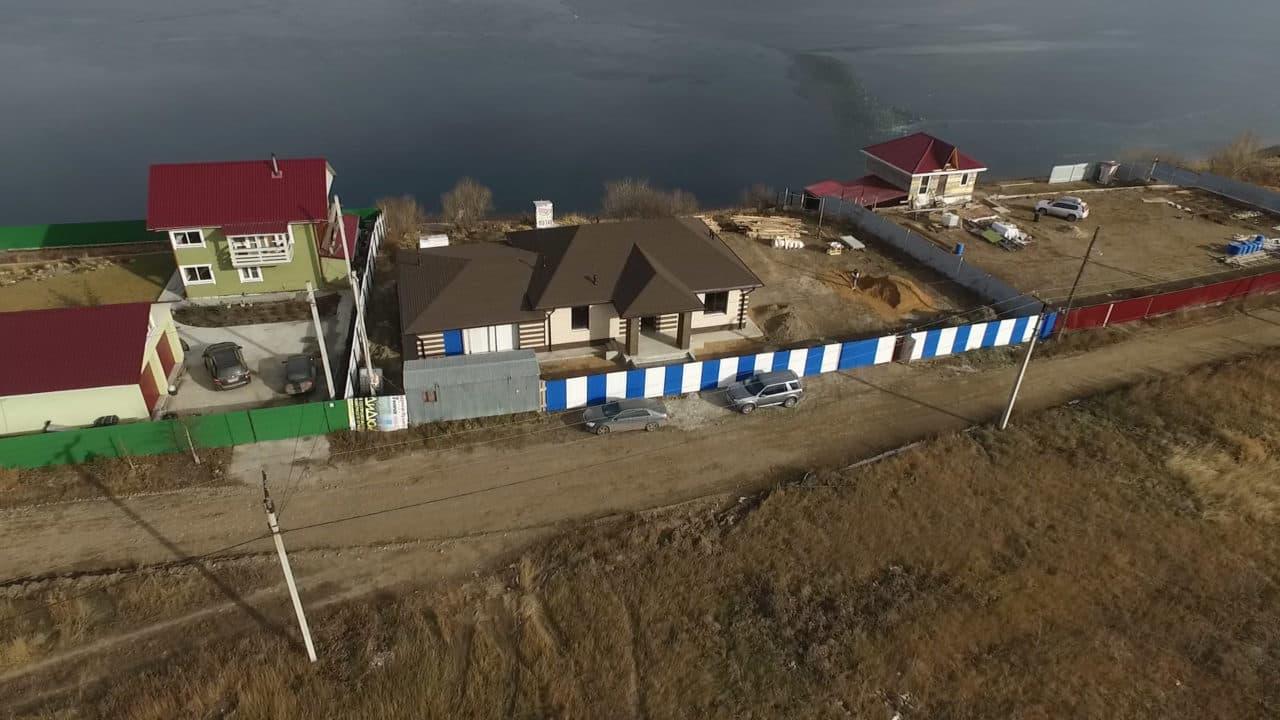 Одноэтажный дом из газобетона 200 кв. м. с гаражом - Фасад 3