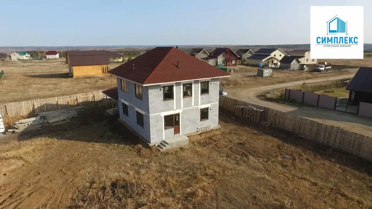Строительство двухэтажного дома из газобетона в 167 кв.м. - Фасад 2