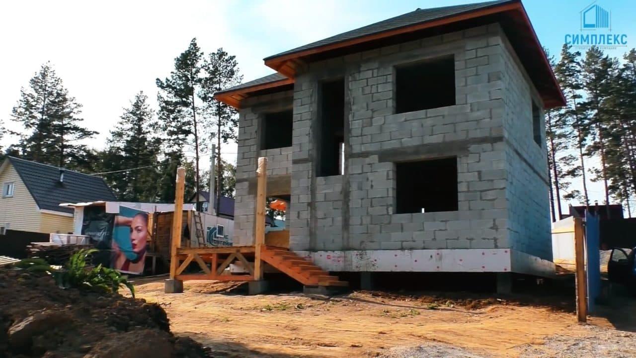 Двухэтажный дом из газобетона - Фасад 7