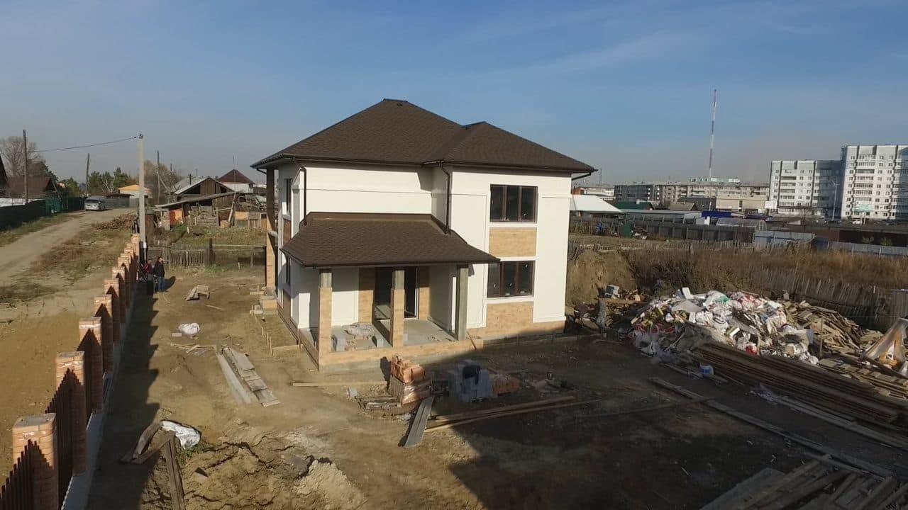 Строительство двух двухэтажных домов из газобетона в г. Ангарск - Фасад 3