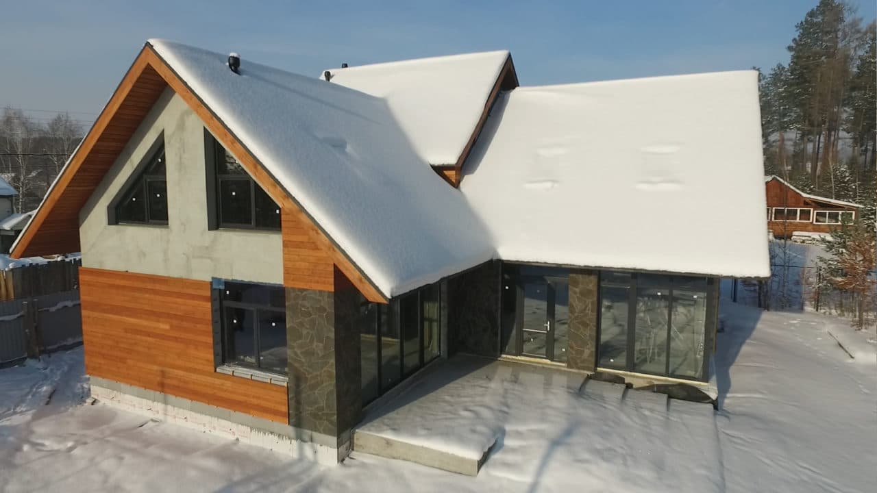 Двухэтажный индивидуальный жилой дом в СНТ Ручеек - Фасад 5