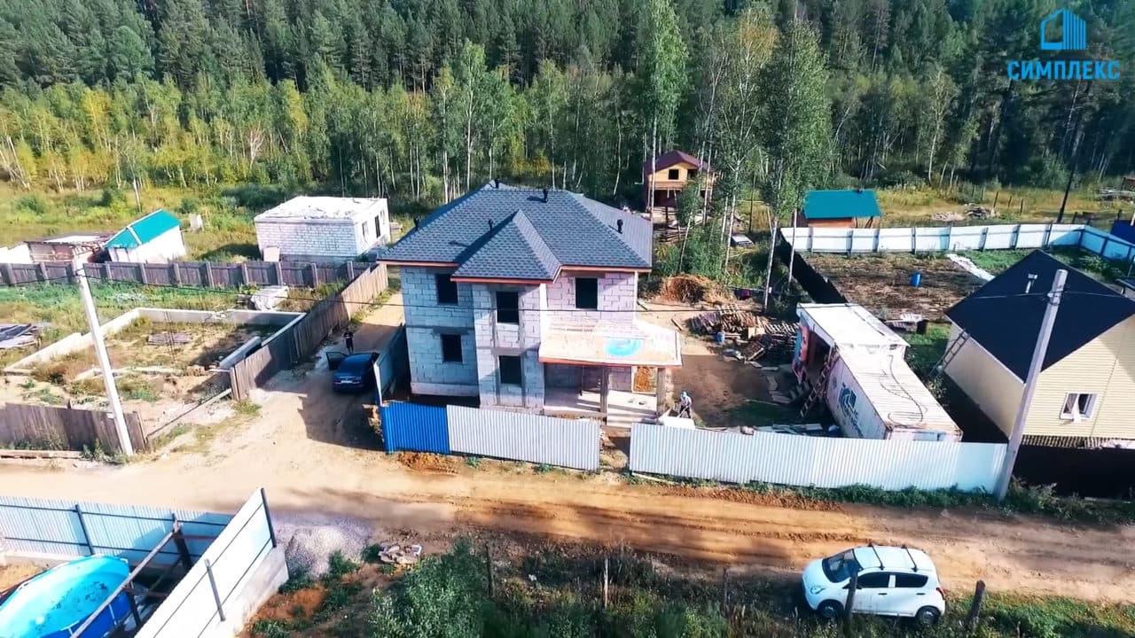 Двухэтажный дом из газобетона - Фасад 1