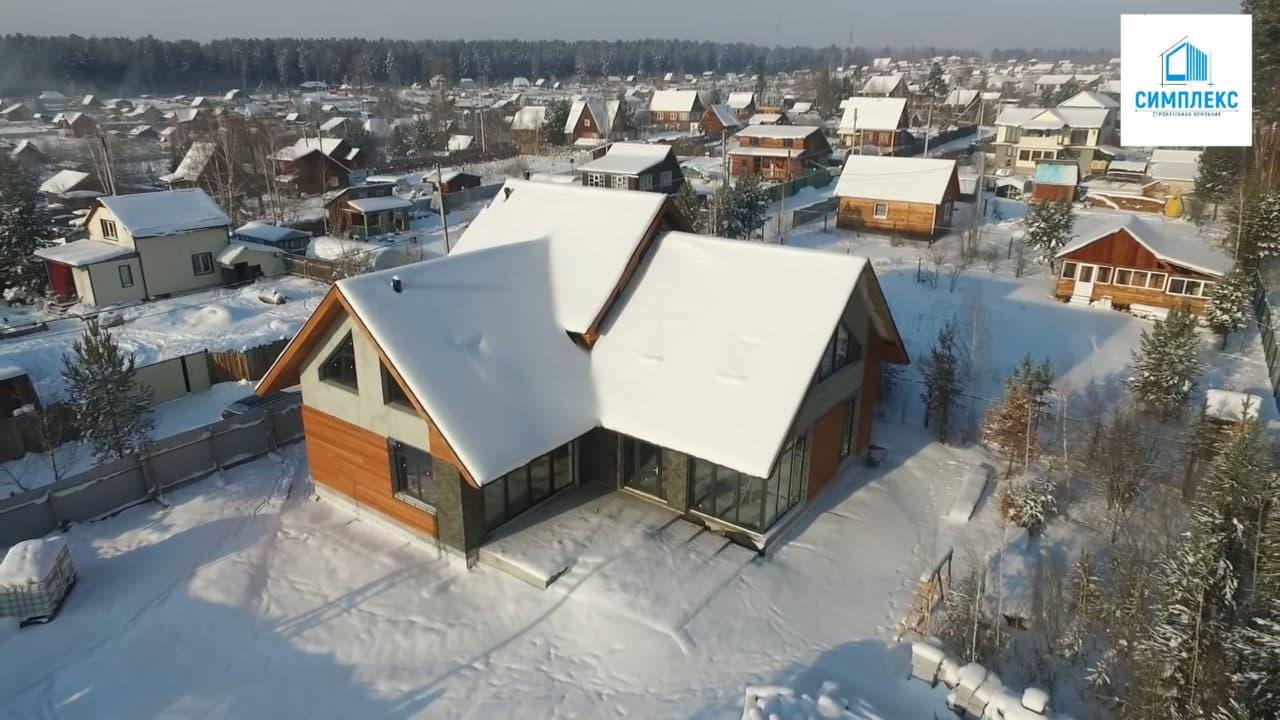 Двухэтажный индивидуальный жилой дом в СНТ Ручеек - Фасад 2