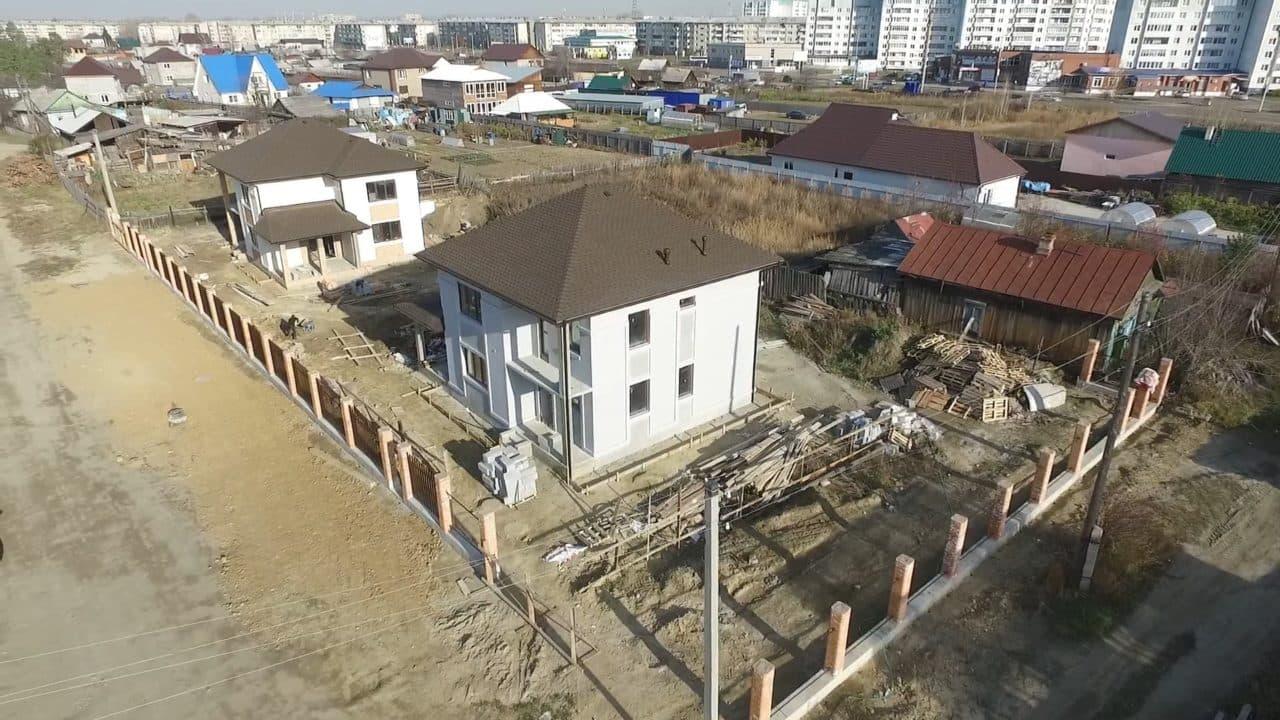Строительство двух двухэтажных домов из газобетона в г. Ангарск - Фасад 11