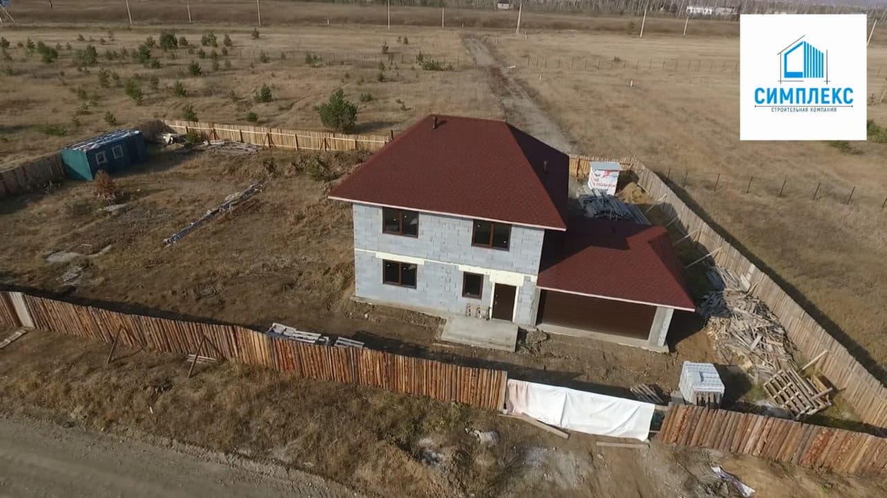 Строительство двухэтажного дома из газобетона в 167 кв.м. - Фасад 3