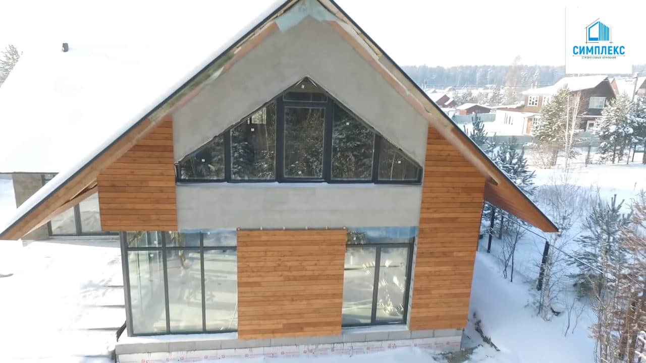 Двухэтажный индивидуальный жилой дом в СНТ Ручеек - Фасад 3