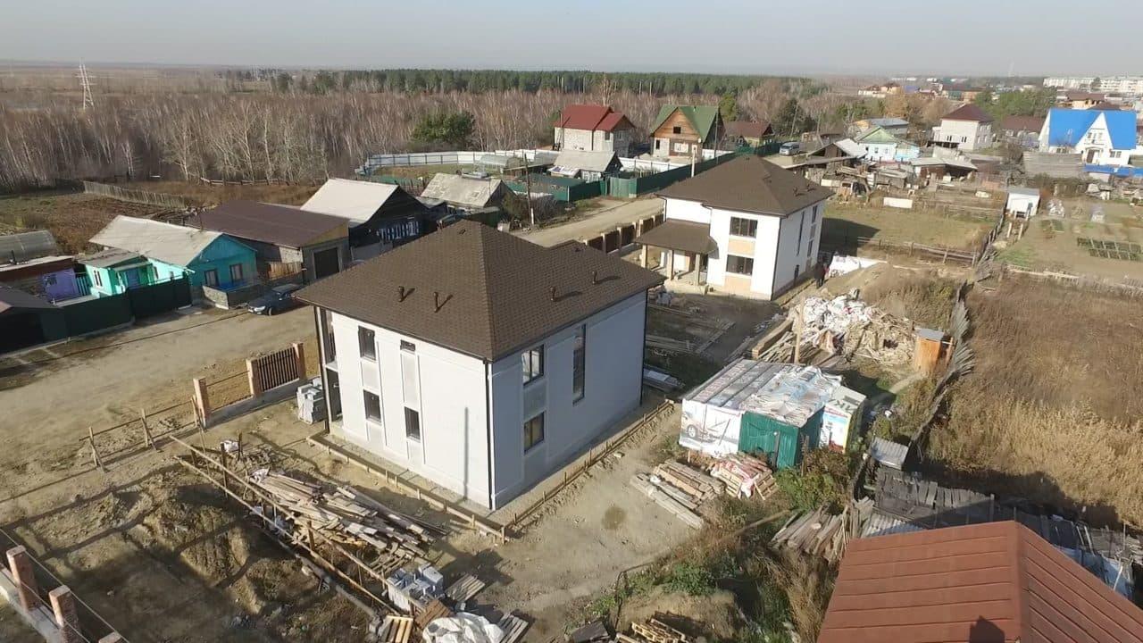 Строительство двух двухэтажных домов из газобетона в г. Ангарск - Фасад 10