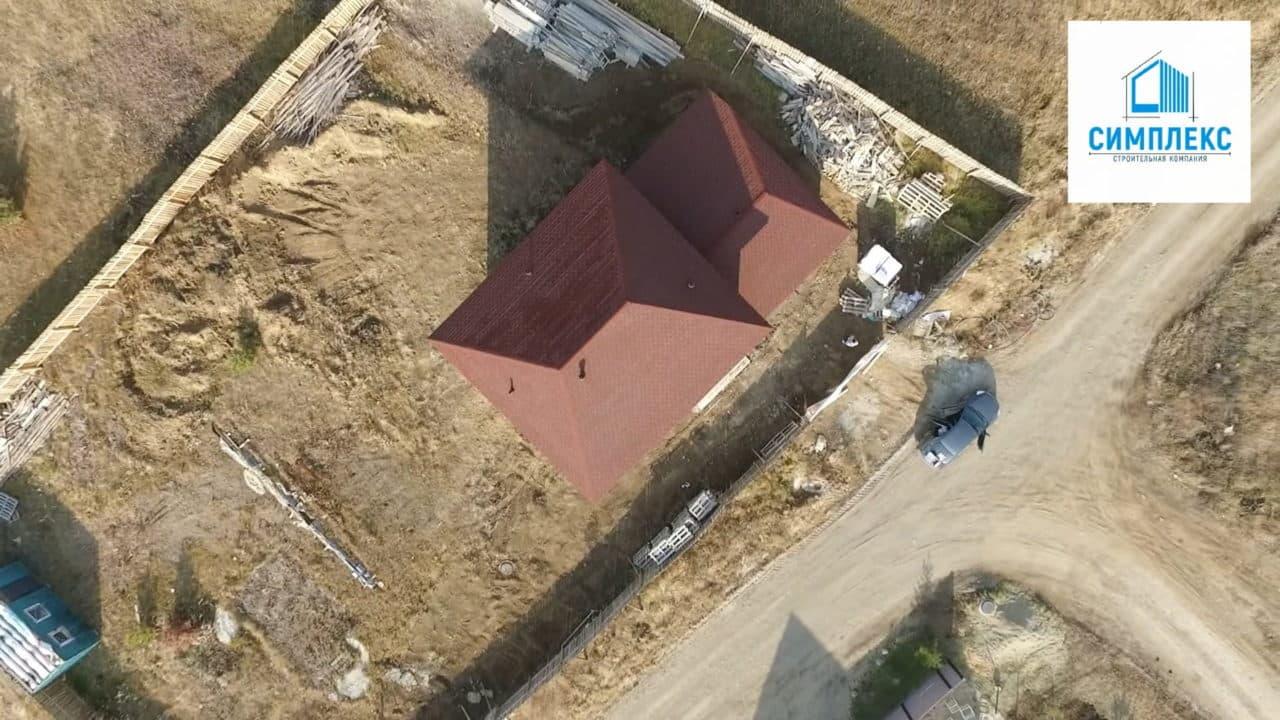 Строительство двухэтажного дома из газобетона в 167 кв.м. - Фасад 4