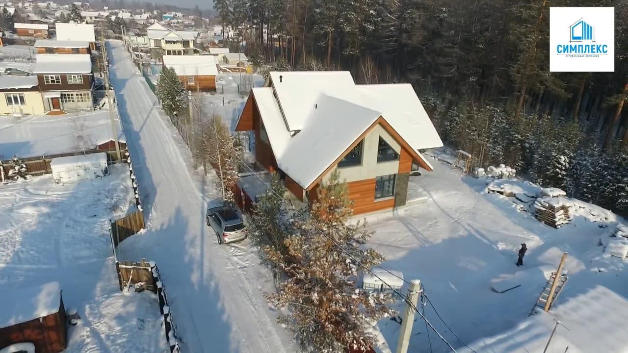 Двухэтажный индивидуальный жилой дом в СНТ Ручеек - Фасад 4