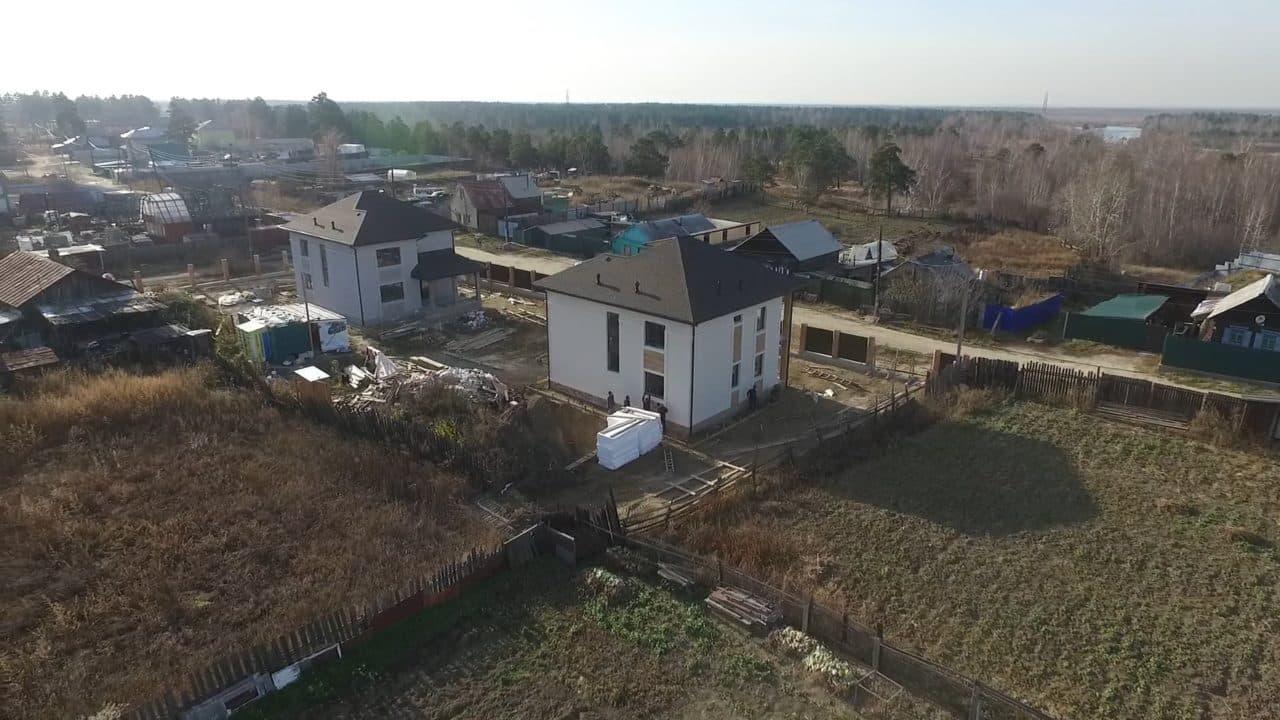 Строительство двух двухэтажных домов из газобетона в г. Ангарск - Фасад 9