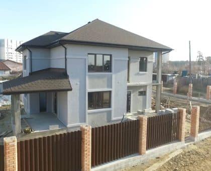 Строительство двух двухэтажных домов из газобетона в г. Ангарск - Фасад 1